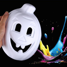 Unpainted Blank Pumkin Hand Painted Party Masks Masquerade Mask Venetian Cat  Cosplay Costume DIY Mask High Quality