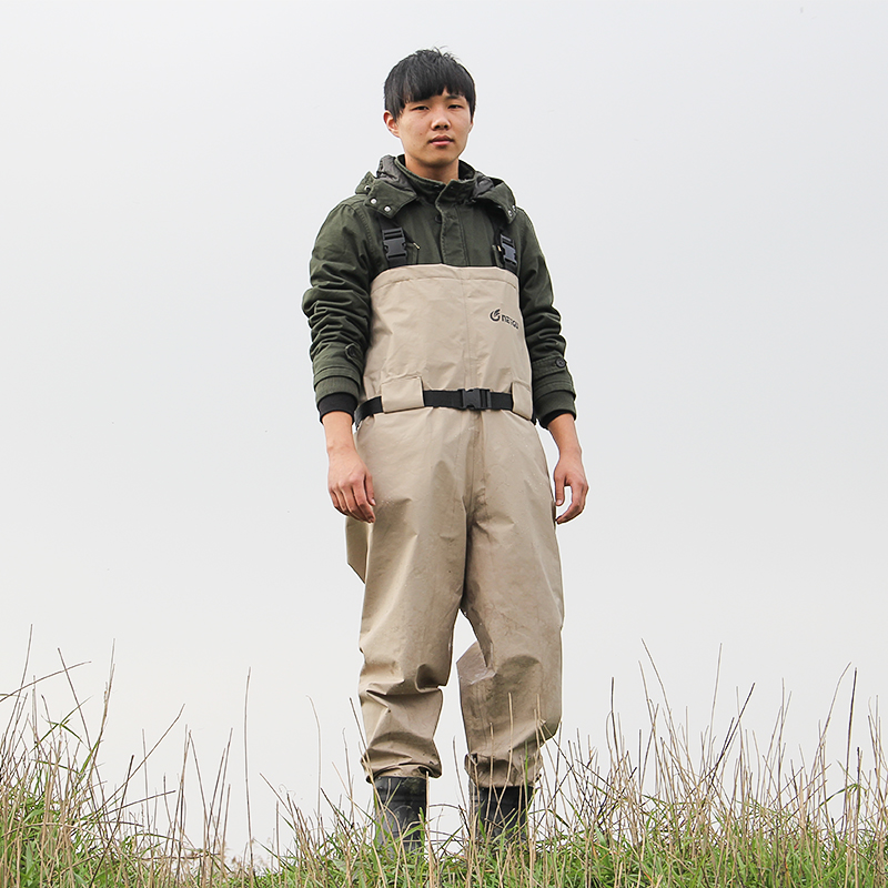 breathable fishing waders, high quality pesca waders trango chest waders with stocking foot (3)
