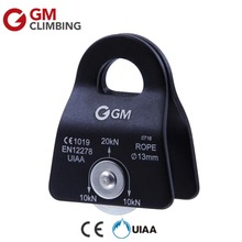 Climbing Rope Pulley CE / UIAA 20kN Micro Mobile Pulley for Rock Climbing Rappelling Caving Arborist Mountaineering(China)
