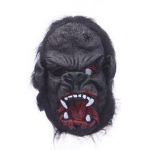 New  Full Face Halloween Cosplay Open Mouth Black Gorilla Mask Party Mask Halloween Design High Grade Latex Scary Mask