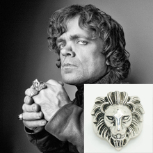 Game of Thrones Tyrion Lannister Lion head Ring The Imp Halfman House Lannister lion Coat of arms A Song of Ice and Fire(China)