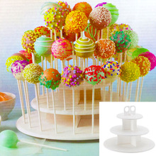 CTDSGW000349 3 Tiers Snack and Cake Server 21pcs Cupcake Stand 42pcs Cake Stands Lollipop Holder white round assemble