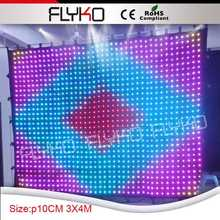 Indoor use display china sexy video curtain led video background curtain(China)