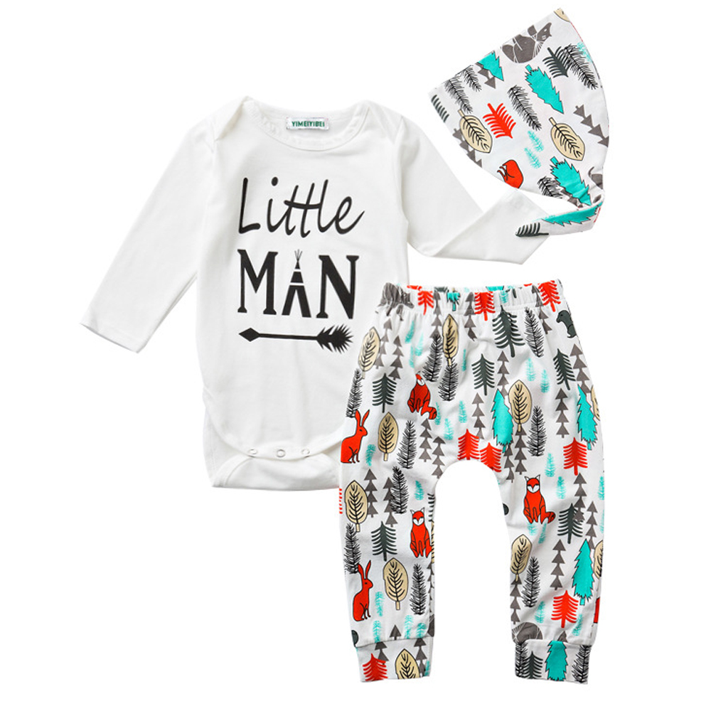 Fashion Newborn Clothes Baby Boy Outfits Spring 2017 Boy Set Suits Cotton Long Sleeve Little Man Baby Set 3 PCS Infant Clothing<br><br>Aliexpress
