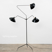 Standing Lamp 1/3 Arm Nordic Iron Floor Light Replica Designer Iion Black/White Floor Lamp industrial Loft Home Lighting(China)