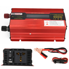600W DC 12V to AC 230V Solar Power Inverter Car Automotive Power Converter LED Display DC and AC Voltage Aluminum Alloy