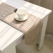 modern table runners Black and white lattice tablecloth Placemat Sets Table Decoration christmas table runner