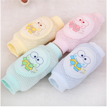 1 Pair Toddler Safety Knee Pad Baby Animal Mesh Sock Elbow Pads Kid Baby Crawl Kneecaps Baby Leg Warmers(China)