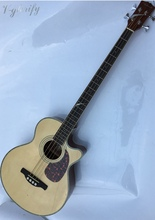 high quality 4 string acoustic-electric bass guitar with eq(China)