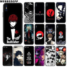 Мягкий силиконовый чехол WEBBEDEPP Death Note для Apple iPhone 11 Pro Xr Xs Max X или 10 8 7 6 6S Plus 5 5S SE TPU(Китай)