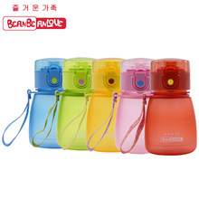 308ml Straw Bottle Press to open Kid baby cartoon water bottle children Bottle Children sports kettle food grade material