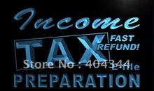 LK694- Income Tax Preparation Office NR LED Neon Light Sign