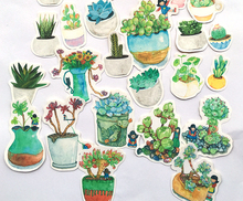 36pcs Creative Cute  Self-made green plant Scrapbooking Stickers /Decorative Sticker /DIY Craft Photo Albums