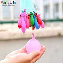 111pcs/Lot Latex Water Magic Bunch Balloons Fight D'anniversaire Party Filling Water Balloons Self-tying Water Ball Supplies
