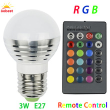 OOBEST E27 Smart RGB RGBW Wireless Bluetooth Bulb Dimmable LED Bulb Light Lamp with 24 Keys Remote Control hot selling(China)