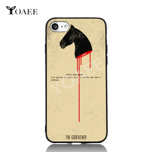 Godfather An Offer Can't Refuse Fun Art For iPhone 6 6s 7 Plus Case TPU Phone Cases Cover Mobile Protection Decor Gift