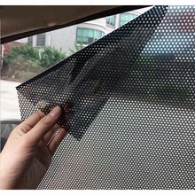 High Light Transmission Car Sunshade Car styling 2pcs/lot Uv Sticker Electrostatic stickers Universal auto supplies(China)