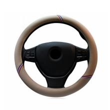 Car styling 38 CM PU Leather Steering Wheel Cover set auto direction For BMW E36 E39 E46 E30 E60 E90 F30 Interior accessories
