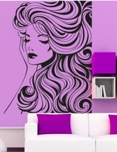 Hot Salon Vinyl Wall Decal Beauty Salon Sexy Girl Nail Hair Face Woma Art Wall Sticker Barbershop Hair Salon Bedroom Decoration