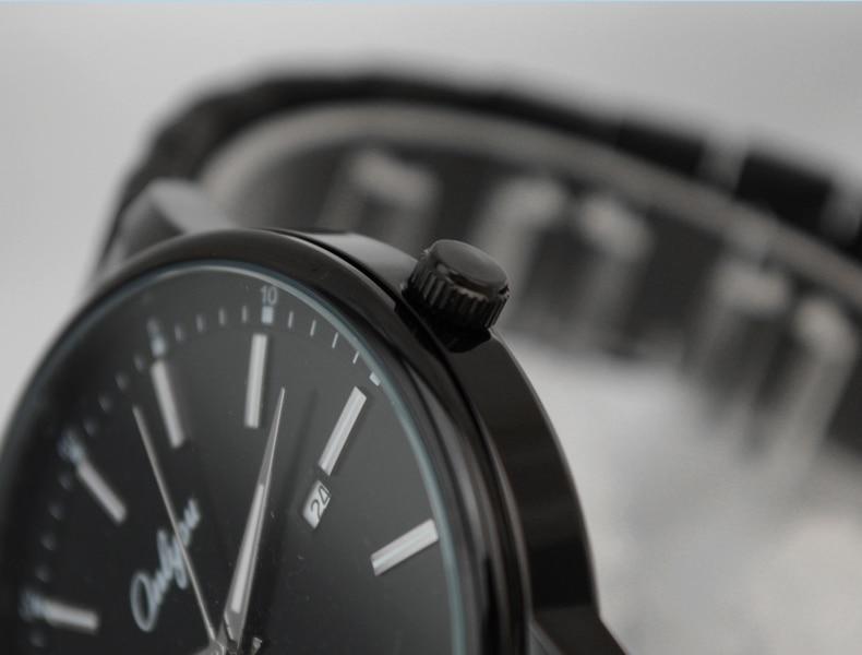 Onlyou Brand Luminous Watch Quartz Movement Black Stainless Steel Big Dial Fashion Business Men Women Watch 81022<br><br>Aliexpress