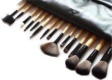 15pcs Makeup Brushes Tools Cosmetic Brush Set Eyebrow Comb with Roll up Snake Pattern Bag kit pincel maquiagens Free Shipping