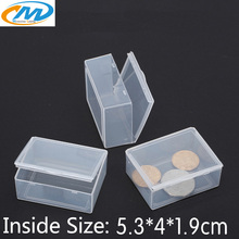 Free Shipping Transparent Plastic Small square Boxes Packaging Storage Box With Lid for jewelry box Accessories Finishing Box(China)