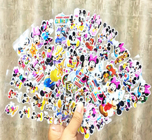 5pcs Fashion Brand Kids Toys Cartoon Mickey and  mouse 3D Stickers Children girls boys Stickers Bubble Stickers