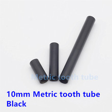 10 mm Metric tooth tube Connecting screw tube  Black paint color Iron lighting tube Lighting accessories