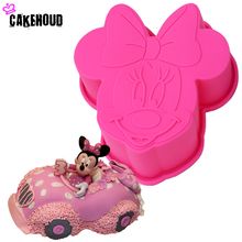 Cute Cartoon 3D Minnie Mouse Styling Silicone Mold Fondant Chocolate Pudding Candy Jelly Mould DIY Cake Decoration Baking Tools