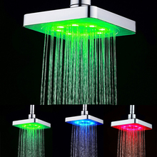 temperature control 3 colors 6 inch shower for bathroom LD8020-B1(China)