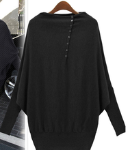 high quality 1pcs New Europe Fashionable Ladies' cardigan Women Batwing Sleeve Long-sleeve Loose Sweater