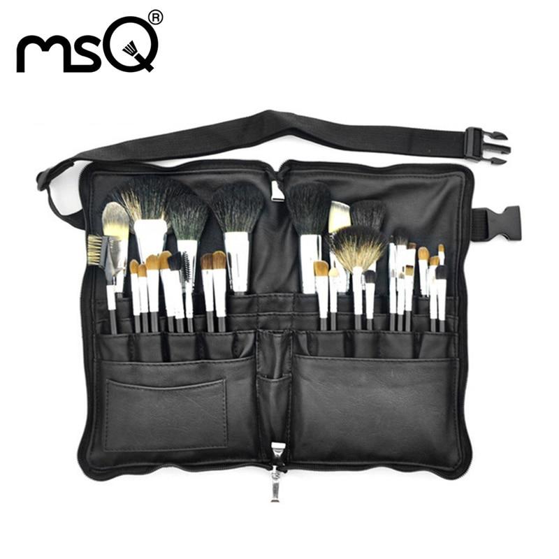 New Brand 32pcs/Set Animal Hair Makeup Brush Eye Shadows Eyeliner Nose Smudge Pincel Maquiagem Wood Handle Kits PU Leather Case<br>