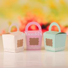 12x Paper Single Cupcake Cake Case Wedding Party Favor Muffin Pod Dome Holder Boxes with Handle and PVC Window PCB001