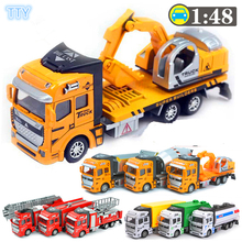 18 type vehicle toys shop truck metal alloy mobile machinery shop model toys for children best collection puzzle gifts