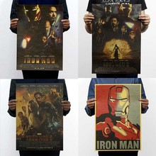 The iron man series kraft paper poster estoring ancient ways, Hollywood movie posters dormitory adornment picture 51*35CM(China)