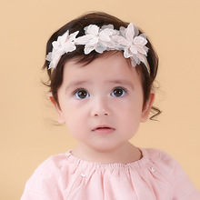 Buy New Three Lace Flowers Hairbands Girls Headwear Children Headbands Elastic Hair Band Kids Hair Accessories for $1.41 in AliExpress store