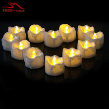 12 Yellow Bright Battery Operated LED Tealight Candles Romantic LED Tealight Candles for Votive Holders Wedding Birthday Party
