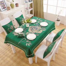 Linen TableCloths American Country Style 9Colors 3d Printed Nappe Mantel Table Cover Manteles Para Mesa Tablecloth Table Cloth(China)