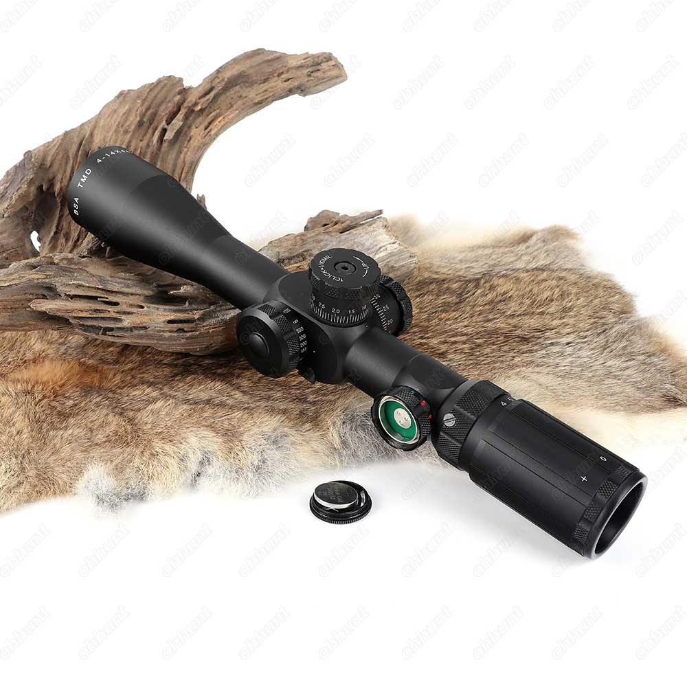 BSA TMD 4-14X44-30 IR Hunting Riflescope Side Parallax Tactical Optical Sight Red Green Reticle Illuminated Rifle Scope  (10)