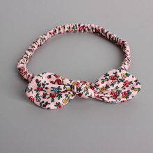 Comfortable Korea Cotton Small Floral Bowknot Princess Headbands Children Headwear Girls Elastic Hair Band Kids Hair Accessories