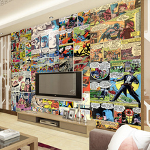 Free Shipping Europe United States cartoon wallpaper 3D puzzle art space sofa TV background bedroom living room mural