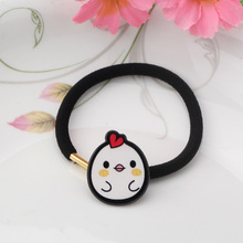 1 Piece New Cute Cartoon Elastic Rubber Band Plant Animal Styles Hair Band Scrunchy Girl's Sun Rope Ponytail Holder Accessories
