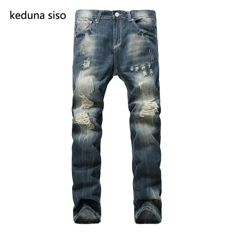 Size 28-42 Fashion Brand Designer Biker Mens Jeans Straight Men Distressed Moto Denim Joggers Ripped Jeans For Men Male PantsОдежда и ак�е��уары<br><br><br>Aliexpress