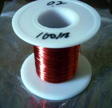 100m/pc Red Magnet Wire 0.2mm Enameled Copper wire Magnetic Coil Winding 0.2 mm(China)