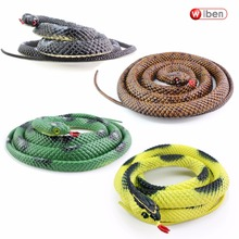 Wiben Halloween Realistic Soft Rubber Snake Simulation Animal Model 139CM Garden Props Joke Prank Gift Gags & Practical Jokes(China)