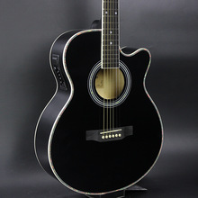 40-47 guitars Black Colour 40 inch Electric Acoustic Guitar Basswood wood guitar pickup tuner strings