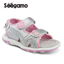 2017 hot sale New Baby Girls Summer Sandals Slippers little kids wedges med-heel classic slides Comfortable slides Footwear(China)
