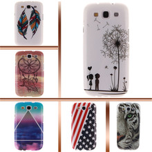 for samsung s3 i9300 back cover case soft TPU UK flag Dandelion Colored feathers for mobile phone Samsung Galaxy S3 I9300 case