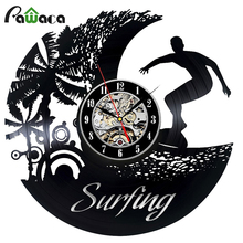 Vintage Vinyl Record Wall Clock for Decorative Living Room 12 Inch Unique Wall Clock Gift Skull decor sticker Clock 5 style