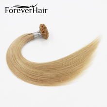 "FOREVER HAIR 0.8g/s 16"" Remy U Tip Human Hair Extension Mix Color #18/22 Keratin Capsules Hot Fusion Prebonded Hair 40g/pac"